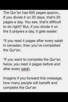 Time to read the Qur'an