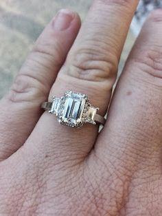 MY Tacori Emerald Cut Engagement Ring Tacori Rings, Tacori Engagement Rings, Best Friend Wedding, Bridezilla, Dream Ring, Wedding Planning, Dream Wedding, Emerald Cut, Glasses