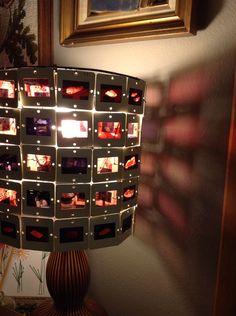 How to Make a Lamp Shade From Projector Slides  or  How to Make a Lamp Shade Frame Out of Wire Hangers