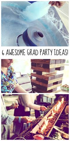 6 Unique Graduation Party Ideas! Game Time, Festival Theme, Specialty Food Stations, and more. By your Columbus Caterer, Made From Scratch. Read more here! http://www.made-from-scratch.com/our-blog/6-unique-graduation-party-ideas