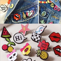 Home & Garden Apparel Sewing & Fabric Good 1 Pcs Cartoon Moon Melody Metal Badge Brooch Button Pins Denim Jacket Pin Jewelry Decoration Badge For Clothes Lapel Pins Street Price