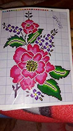 Cross Stitching, Cross Stitch Embroidery, Hand Embroidery, Cross Stitch Patterns, Knitting Patterns, Cross Stitch Pillow, Cross Stitch Flowers, Punch Needle, Embroidery Techniques