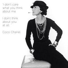 Coco Chanel #dressmaking