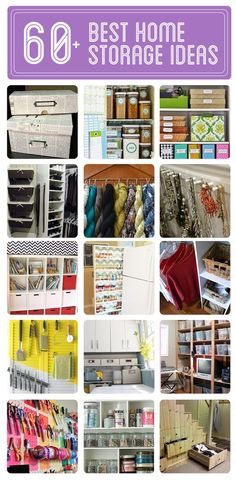 Easy and inexpensive ideas for storage, shelving and organization.