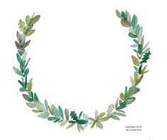 watercolor leaf wreath
