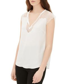 Sandro Esty Lace-Inset Top