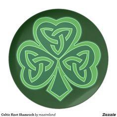 Celtic Knot Shamrock Dinner Plate