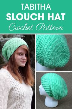 This round slouch hat crochet hat is for someone that wants something with a little texture and style! This round slouch hat crochet hat is for someone that wants something with a little texture and style! Slouch Hat Crochet Pattern, Crochet Slouch Beanie, Slouch Hats, Slouchy Beanie Pattern, Crochet Crafts, Free Crochet, Knit Crochet, Crochet Granny, Crochet Stitches
