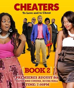Cheaters Book 2 starring Adjetey Annan and Jackie Appiah #Movie #Poster