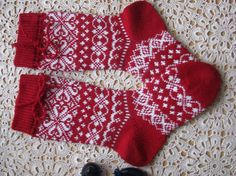 red knit socks Wool socks knitted socks Norwegian socks Christmas socks Winter socks Warm socks gift to man gift to men socks Women socks – Knitting Socks Poncho Knitting Patterns, Baby Hats Knitting, Mittens Pattern, Knitting For Kids, Easy Knitting, Knitting For Beginners, Knitting Socks, Knitting Projects, Knit Socks