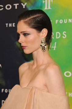Coco Rocha short sleek hairstyle