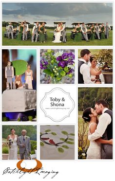 Golf Carts, etsy wood cake toppers (personalized to look like them & their cats), initials burned in slice of tree under ball jar of purple flowers, unity tree (poured containers of dirt from each of their homes growing up into the base of the tree... planting at their first home), thumbprint tree print for guestbook... very special theme!