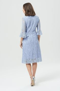 Sugarhill Boutique Ellie Fluted Sleeve Lace Dress - Clothing from Sugarhill Boutique UK