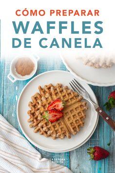 Receta Fácil de Wafles de Canela con Helado – La Señora Bonita  #Wafles #ValentineDay #SanValentin #Desayuno Latest Recipe, Churros, Crepes, Bakery, Breakfast, Cupcakes, Food, Canela, Cuban Recipes
