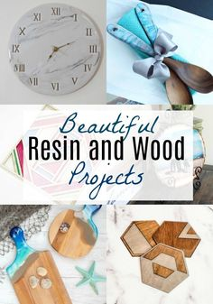 Check out these beautiful DIY ideas featuring resin and wood put together into amazing art, jewelry, or coasters. Those are just a few projects featured in this collection of resin and wood projects. Diy Craft Projects, Diy Furniture Projects, Easy Diy Crafts, Woodworking Projects, Decor Crafts, Resin Furniture, Coaster Furniture, Diy Wood Stain, Wood Resin