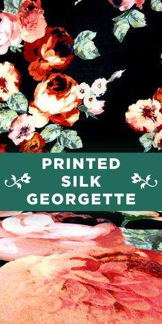 Painterly Floral Printed 100% Silk Georgette