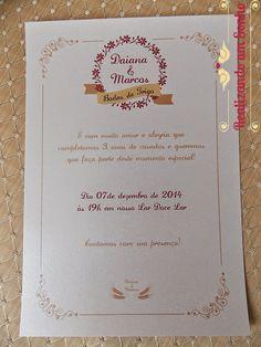 Realizando um Sonho   Blog de casamento e lar doce lar: Bodas de Trigo   Nosso convite
