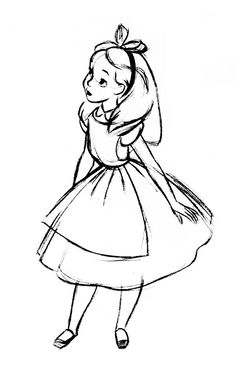 My Edit of the Alice sketch for my tattoo