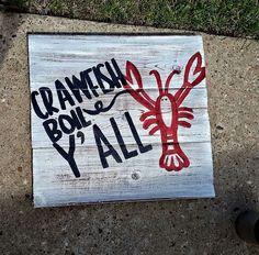 Crawfish boil yall sign