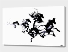 """Black horses"", Numbered Edition Canvas Print by Robert Farkas - From $69.00 - Curioos"