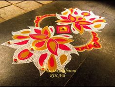 Free Hand Rangoli Design, Rangoli Ideas, Rangoli Designs Diwali, Diwali Rangoli, Alice In Wonderland Cross Stitch, Latest Rangoli, Diwali Decorations, Art N Craft, Mehandi Designs