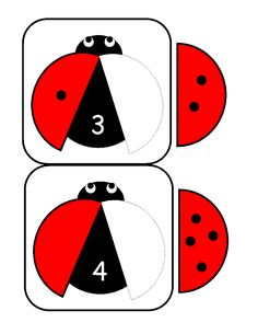 ladybugs math activities printables - The best crafts The best crafts Counting Activities For Preschoolers, Kindergarten Math Activities, Numbers Kindergarten, Math Numbers, Kindergarten Worksheets, Math Games, Math For Kids, Math Centers, Prints