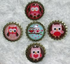 Owl Bottle Caps