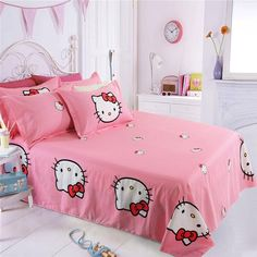 Mife Cartoon Bedding Set Hello Kitty Printing Pink Plaid Duvet Cover Bedding Set Bed Sheet Duvet Cover Pillowcase /King Red Bedding Sets Queen Duvet From Beijiguang719, $107.74| Dhgate.Com