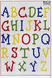 abecedario bordado en punto de cruz - Buscar con Google