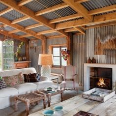 {that's A LOT of metal} Beautifully transformed ancient farmhouse with a rustic-chic look in the South of France.