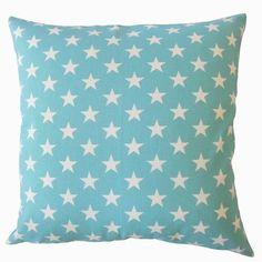 "Brayden Studio Wexler Geometric Down Filled 100% Cotton Throw Pillow Size: 20"" x 20"", Color: Blue"