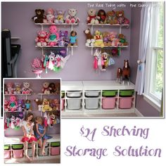 The Real Thing with the Coake Family: Storage Solutions: $24 Shelving and Storage for Kid's Toys