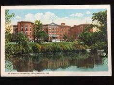 Early 1900s St. Vincent's Hospital, Indianapolis, IN postcard