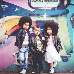 Tre with some friends with sweet 'fros, somewhat regretting his recent haircut.