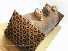 Tronco de mousse de chocolate