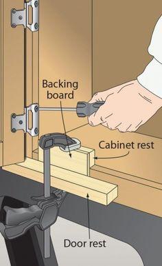 Ah! E se falando em madeira...: Quadro de dicas: 3ª mão para apoiar porta para mon...