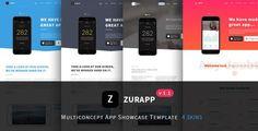 ThemeForest - ZurApp - Multiconcept App Showcase Template  Free Download