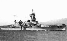 French heavy cruiser Algerie, built as a counter to the Italian 'Zara' class: in June 1940 she bombarded Genoa when Italy declared war on a stricken France. She was scuttled at Toulon in November 1942 when the Germans invaded Vichy France.