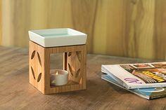 Aromalampe Duftlampe aus Bambus - Aroma Duft Lampe Stövchen Duftstövchen Keramik > Cube > Sonderposten jetzt günstig kaufen