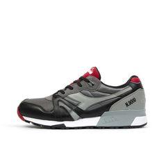 Diadora N9000 L-S Storm Gray/Black. Available at Concrete Store Prinsestraat | WEB SHOP  #dipyourfeetintotheconcrete #concretestore #thehague #webshop #footwear #men #women #unisex #Diadora #N9000 #L #S #Storm #Gray #Black