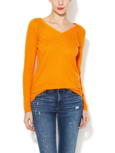 Cashmere Crepe Pointelle Detail Sweater by Barrow & Grove at Gilt
