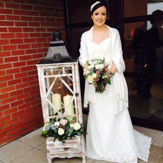 Posy Barn lantern at Winter Wedding