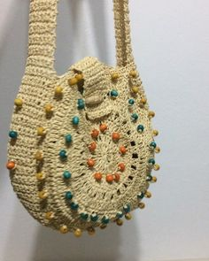 Crochet Clutch Bags, Crochet Purse Patterns, Crochet Handbags, Crochet Purses, Handmade Home, Bead Crochet, Cute Crochet, Knitting Designs, Knitting Patterns