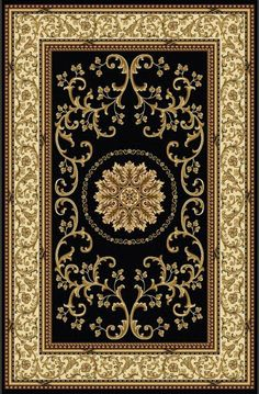 Radici USA Noble II 1419 Black Area Rugs