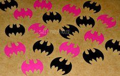 BATMAN - 300 - 2 Inch (Hot Pink, Black) (Confetti, Table Decoration, Birthday, Catwoman, Girl, Super Hero, Batgirl, Wedding, Baby Shower)