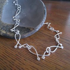 Stacked waves necklace nature inspired by TCMjewelryDesigns