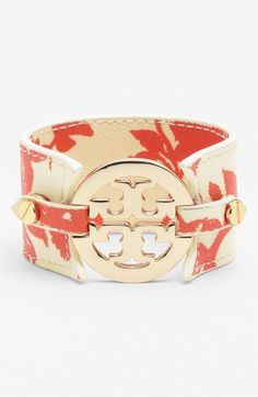 Tory Burch Print Leather Bracelet available at Nordstrom. Love the blue one.
