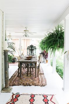 outdoor boho dining room