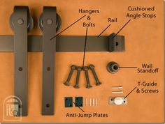 Sliding hanging door hardware