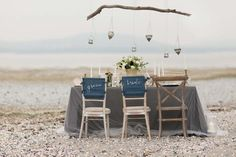 City and The Sea – Black, Blue + Beach Wedding Inspiration